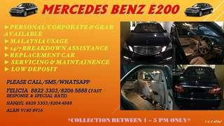 💣🚘MERCEDES BENZ E200 OUT FOR RENT💣🚘 ☎️Call/SMS/Whatsapp for Booking/Reservation/Enquiries 🤘Felicia 8822 3303/8206 5888 (FAST RESPONSE & SPECIAL RATE) ✌️Haiqul 8828 3303/8204 4888 ✋Alan 9180 8916  T&C Apply.