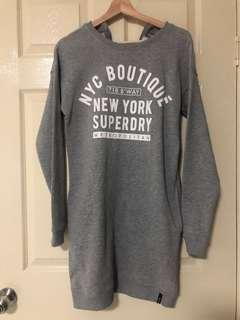 GREY CREW JUMPER DRESS