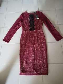 BNWT Lace Bodycon Midi Dress