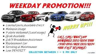🚨🚧WEEKDAY CAR RENTAL PROMOTION!!!🚧🚨 ☎️Call/SMS/Whatsapp for Booking/Reservation/Enquiries 🤘Felicia 8822 3303/8206 5888 (FAST RESPONSE & SPECIAL RATE) ✌️Haiqul 8828 3303/8204 4888 ✋Alan 9180 8916  T&C Apply.
