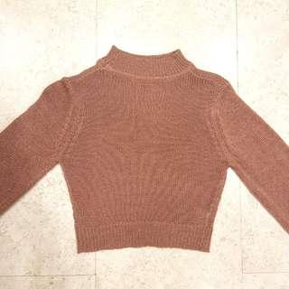 Dusty pink thin knit sweater