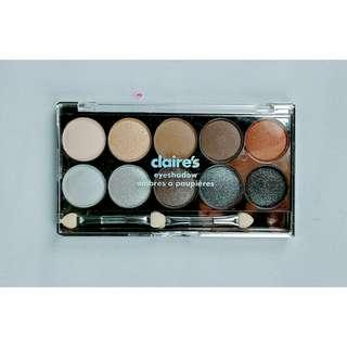 Claire's Authentic neutral shimmer eyeshadow palette