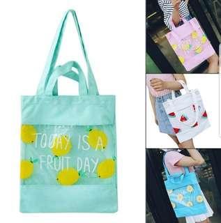🚚 Canvas Tote Bag (Fruit)