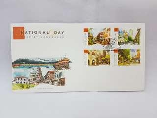 2007 Singapore First Day Cover (National Day Tourist Landmarks) Stamps for Chinatown/ Little India/ Orchard Road/ Kampong Glam