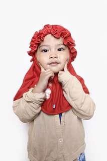 Hijab red #momjualan