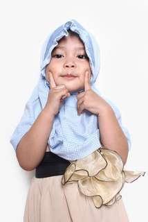 Hijab blue #momjualan
