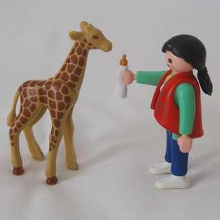 Playmobil woman and giraffe (Playmobil 3253)
