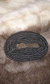 Handmade Black and White woven headband hippie