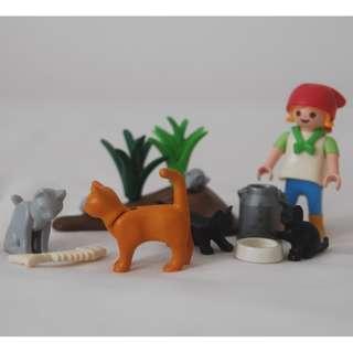 Playmobil girl with cats (Playmobil 4493)