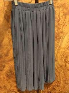 🚚 灰藍色百褶裙