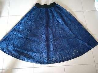 BNWT Lace Midi Skirt