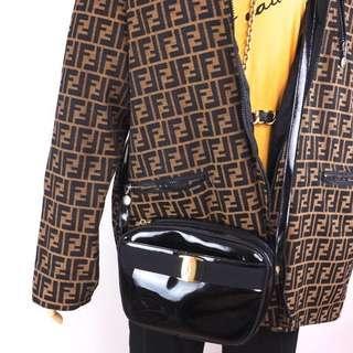 Ferragamo Vintage Black Shoulder Bag