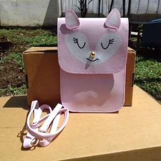 Sling Bag Pouch warna Pink