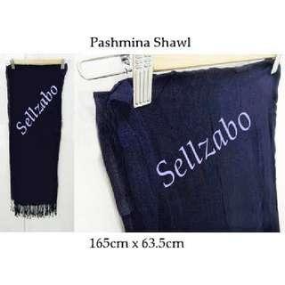 Pashmina Long Shawl Neck Dark Blue Colour Sellzabo Warm Accessories Scarf