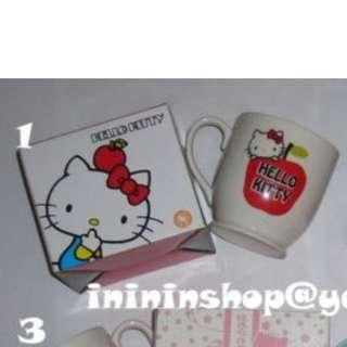 送順豐櫃 全新有盒 Sanrio Hello Kitty 非賣品 原裝正版 大蘋果玻璃杯 Big Apple Mug GLASS CUP