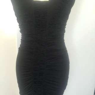 Seduce Black Body Hugging Dress