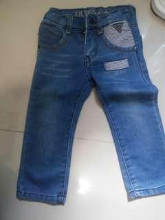 #jualanibu celana jeans merk guess utk umur 1-2,5 thn