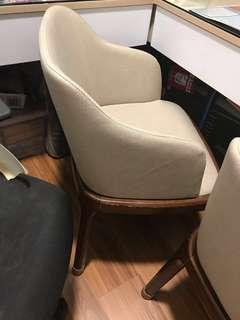 Dining Wooden beige  Chair (Only left two pcs@buy 2 @$30 )