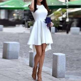 White Cocktail FishTail Dress
