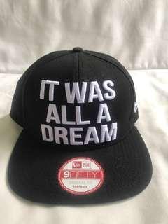 """Original New Era """"It was all a Dream"""" SnapBack Cap"""