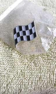 Chequered Flag collar pin