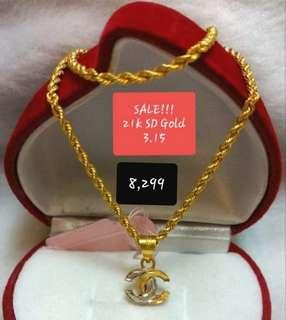 21k SD Gold Necklace