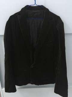 絨面黑色(深啡色)西裝外套