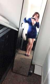 Deep V Velvet dress