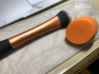 🚚 Real Techniques Expert face brush二手+美妝蛋全新
