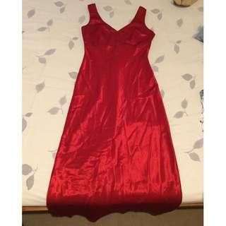 Red Silk Formal Dress Size 10