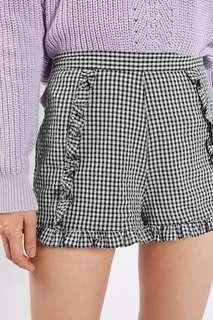 TOPSHOP Gingham Crinkle Shorts