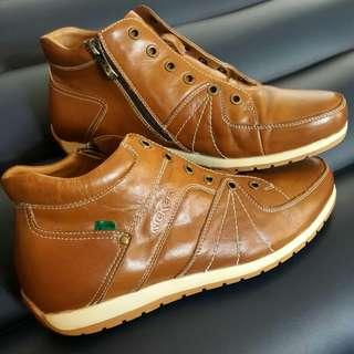 Kickers Man Boots Brown Leather