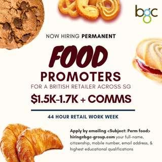 Food Promoters (Permanent, Up to $2k / Month)