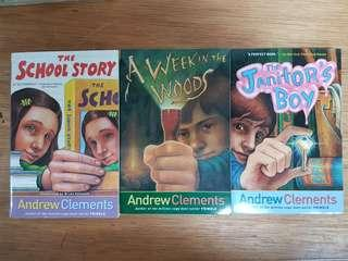 1) The School Story. 2) A Week in The Woods  3) The Janitor's  Boy