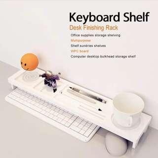 Over the Keyboard Desktop Organizer Wooden Plastic