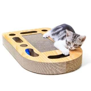 🚚 Cat scratching board toy with play ball track