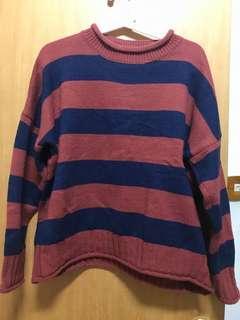 🚚 條紋針織毛衣