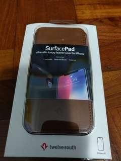 Twelve south surfacepad leather brown iphone X