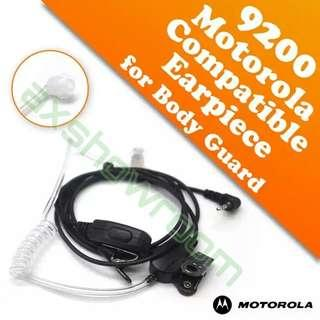 High Quality Anti-radiation Airtube type Walkie Earpiece with built-in mic and Push to Talk PTT button. For Motorola 2.5mm jack