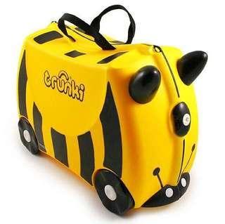 BN Brand New Auth Trunki Kids Luggage Bumble Bee Yellow Girl Boy Kid
