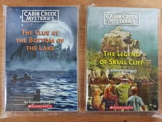 Cabin Creek Mysteries : 1) The Clue At The Bottom of the Lake   2) The Legend of Skull Cliff