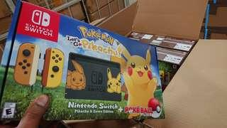 Nintendo Switch let's go Pikachu limit edition