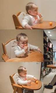 ***木製High chair兒童餐椅***