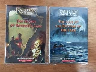 Cabin Creek Mysteries: 1) The Secret of Robbers Cave. 2) The Clue At The Bottom of the Lake