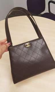 Authentic Chanel Vintage dark brown bag!