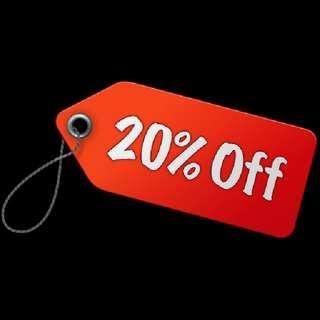 20% Off Until Weekends😊