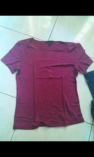Baju top kaos tshirt polos express ungu