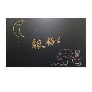 🚚 兒童厚黑板貼紙環保家用辦公教學可移除塗鸦自黏背膠加送溶水性無塵粉筆綠板牆貼玻璃貼