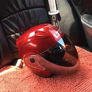 Red LTD helmet