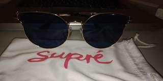 Supré Gold Blue Chic Sun Glasses